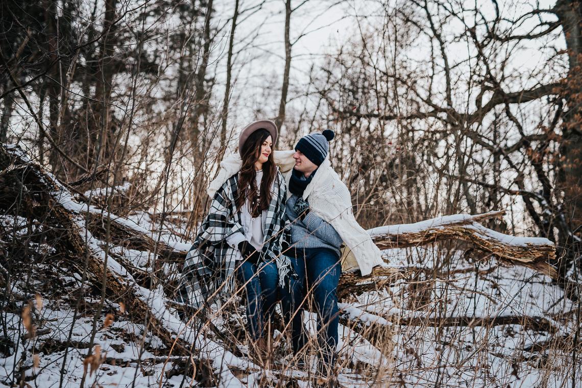 Zimowa sesja narzeczeńska Doroty i Macieja 2