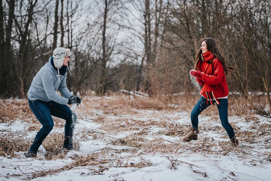 Zimowa sesja narzeczeńska Doroty i Macieja 22