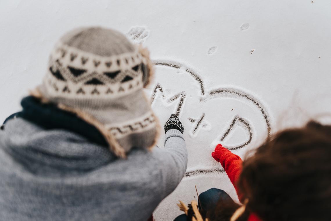 Zimowa sesja narzeczeńska Doroty i Macieja 37