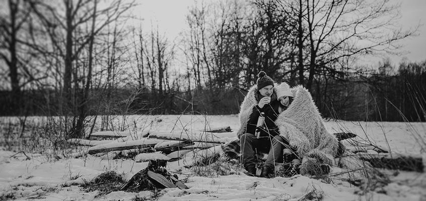 Zimowa sesja narzeczeńska Elizy i Dominika