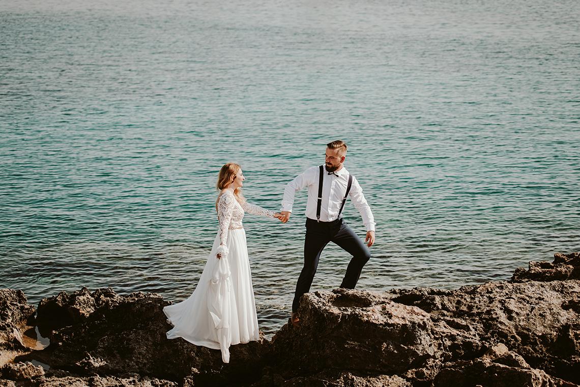 Plenerowa sesja ślubna na Cyprze o wschodzie i zachodzie słońca - w roli głównej Luiza i Bartek 22