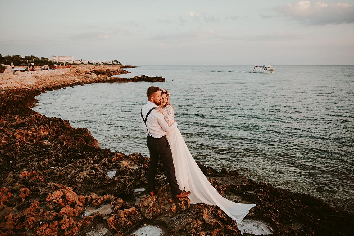 Plenerowa sesja ślubna na Cyprze o wschodzie i zachodzie słońca - w roli głównej Luiza i Bartek 3