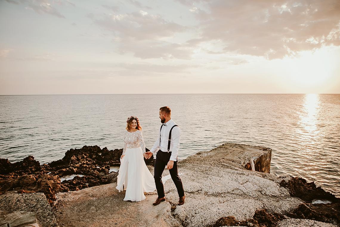 Plenerowa sesja ślubna na Cyprze o wschodzie i zachodzie słońca - w roli głównej Luiza i Bartek 8